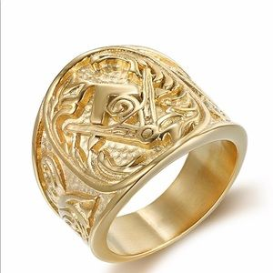Other - Men's Masonic 14k Gold Ring jewelry
